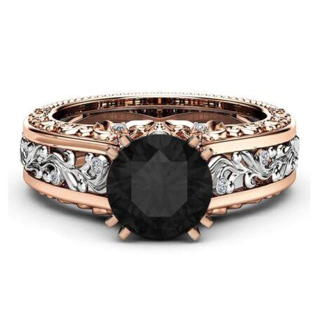 Adrina-  cirkóniaköves divatgyűrű-fekete
