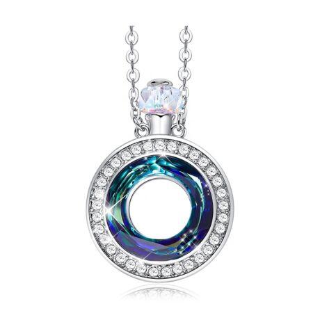 Perfume - Swarovski kristályos nyaklánc kerek - kék