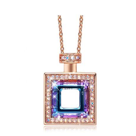Perfume - Swarovski kristályos nyaklánc kocka- lilás - lila
