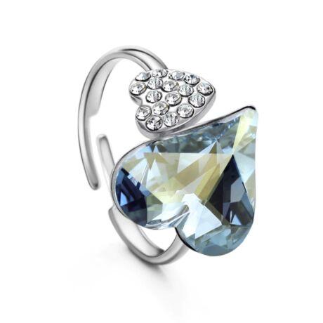 Lena- Swarovski kristályos gyűrű - állítható méretű - kék