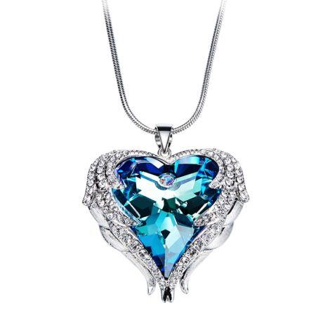Angyalszárny - Swarovski kristályos nyakék - kék