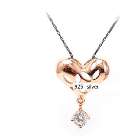 Aranyszív - aranyozott ezüst medál kővel - fehér