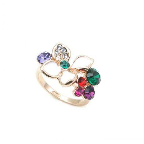 Bogyós virág - Swarovski kristályos - Gyűrű