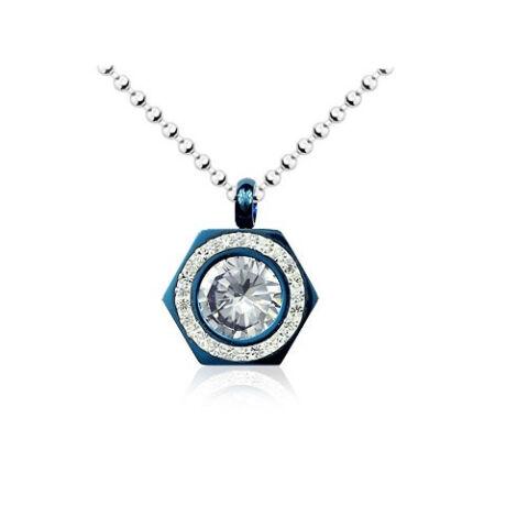 Gyémánt acél nyaklánc - Medál