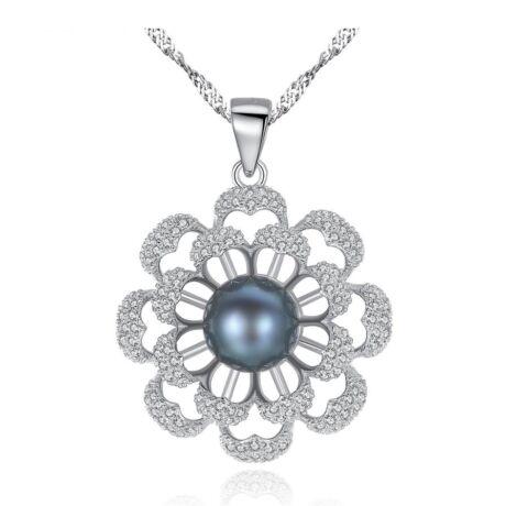 Michelle- valódi gyöngy ezüst nyakék