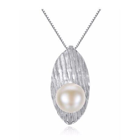 Lena- valódi gyöngy ezüst nyakék