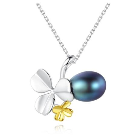 Lucky- valódi gyöngy nyakék - ezüst