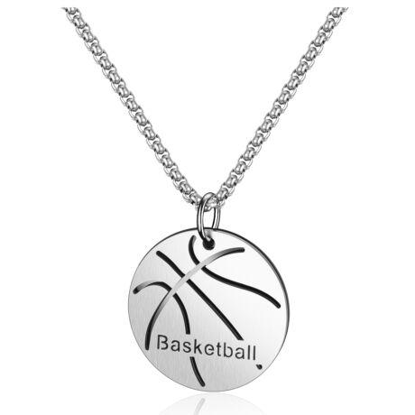 Kosárlabda-  férfi nemesacél nyaklánc