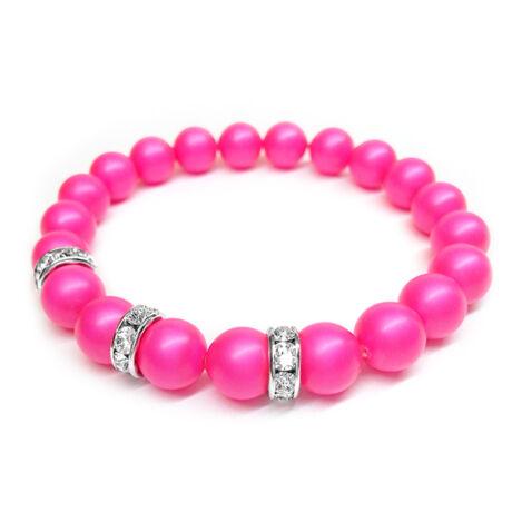 Swarovski gyöngy karkötő - Neon Pink - rózsaszín