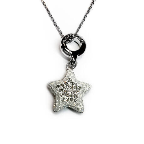 Star - Swarovski kristályos ezüst nyaklánc