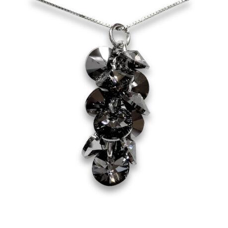 Cluster - Swarovski kristályos ezüst nyaklánc