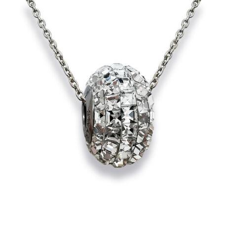 Pave- Swarovski kristályos ezüst nyaklánc