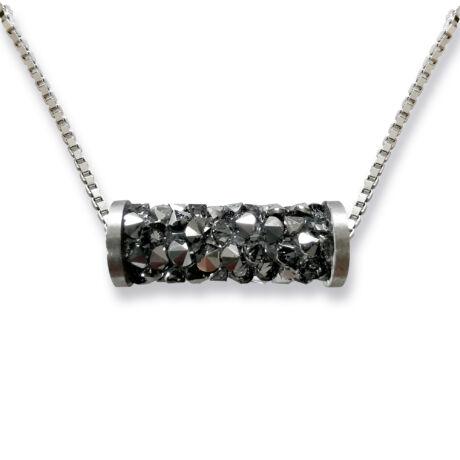 Tube- Swarovski kristályos ezüst nyaklánc