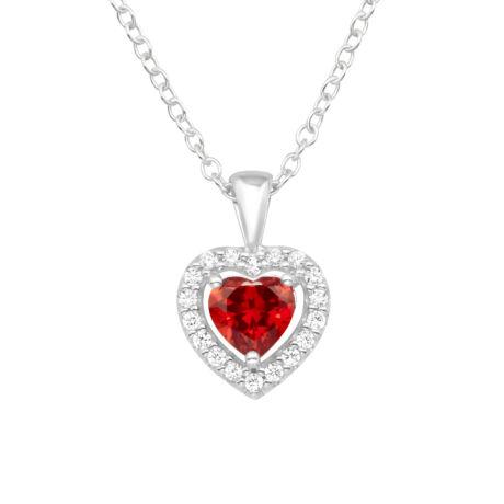 Szívem-  Ezüst nyaklánc medállal
