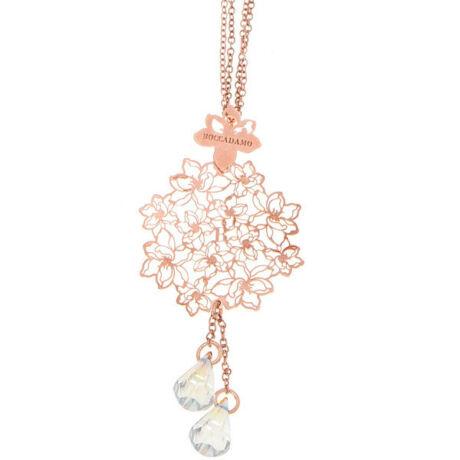 Boccadamo Jewels -ezüst  nyaklánc - Hemerocallis rózsaarany - fehér