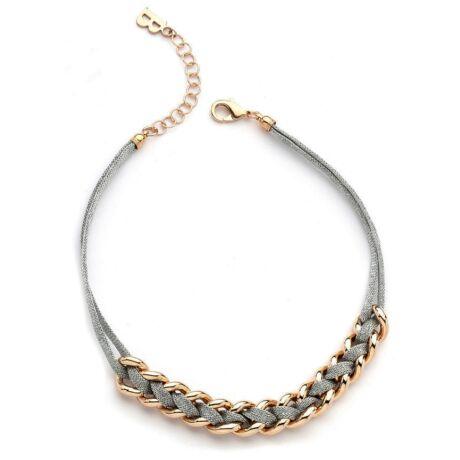 Boccadamo Jewels - aranyozott bronz nyakék - Interwowen