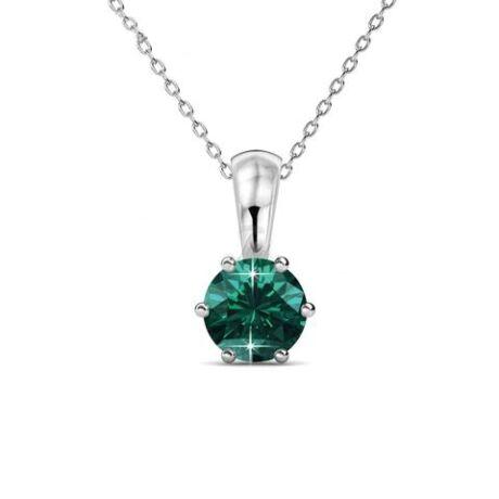 Május-Birth Stone Swarovski kristályos nyaklánc - Emerald - zöld