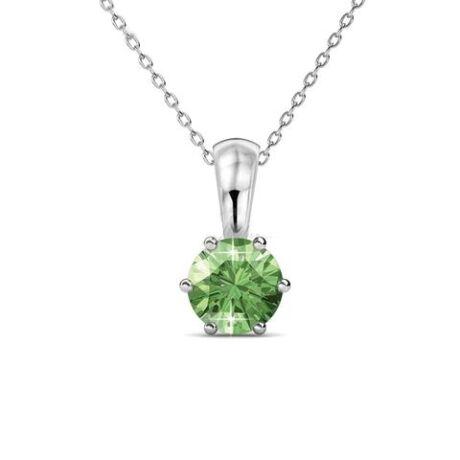 Augusztus-Birth Stone- Swarovski kristályos nyaklánc - Peridot - zöld