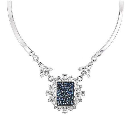 BAROQUE - Kézzel készített Swarovski kristályos nyaklánc - BERMUDA BLUE - kék