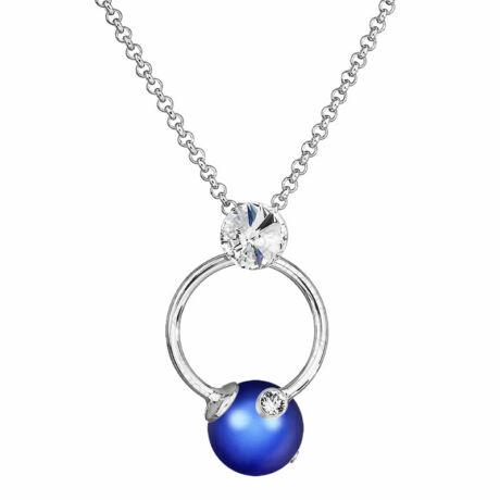 Pearl - Kézzel készített Swarovski gyöngy nyaklánc -  Iridescent dark blue - kék
