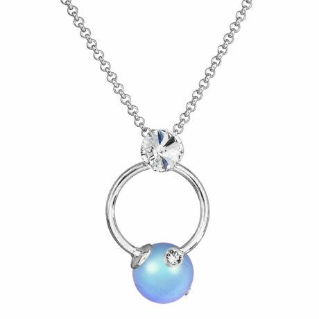 Pearl - Kézzel készített Swarovski gyöngy nyaklánc -  Iridescent light blue - kék