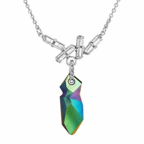 Kaputt - Kézzel készített Swarovski kristályos nyaklánc -  Scarabeus green, Crystal - zöld