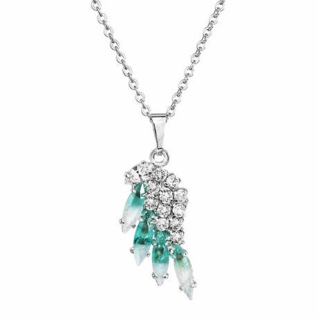 ANGEL- Kézzel készített Swarovski kristályos nyaklánc - Alabaster, Crystal - világoskék