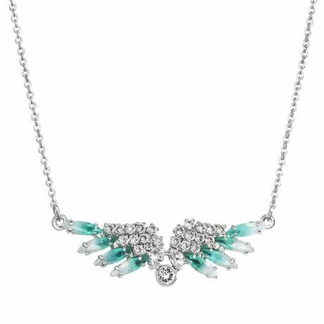 ANGELS- Kézzel készített Swarovski kristályos nyaklánc - Alabaster, Crystal - világoskék