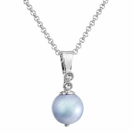 Pearly - Kézzel készített Swarovski gyöngy nyaklánc -  Iridescent light blue - világoskék