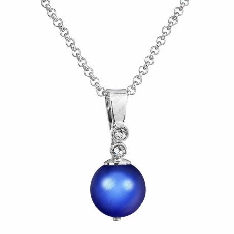 Pearly - Kézzel készített Swarovski gyöngy nyaklánc -  Iridescent dark blue - kék