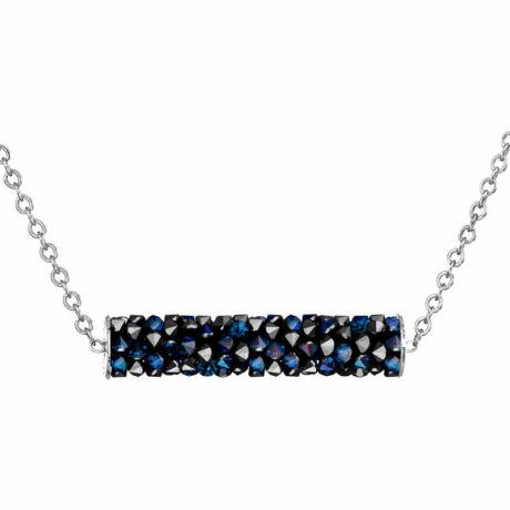 Crystal Rocks Linea - Kézzel készített Swarovski kristályos nyaklánc - Bermuda Blue - kék