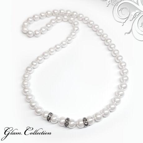 Swarovski gyöngy nyaklánc -White - fehér
