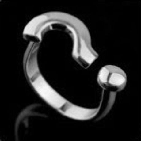 Emotikon gyűrű  - ezüst
