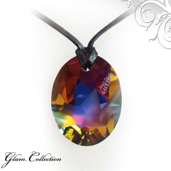 Bőr  nyakék -Volcano- Swarovski kristályos - Jean Paul GAULTIER limitált szériás medál
