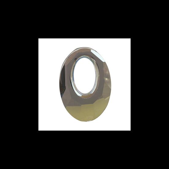 Helios Swarovski medál - vastag vagy vékony nyaklánccal - Iridescent Green