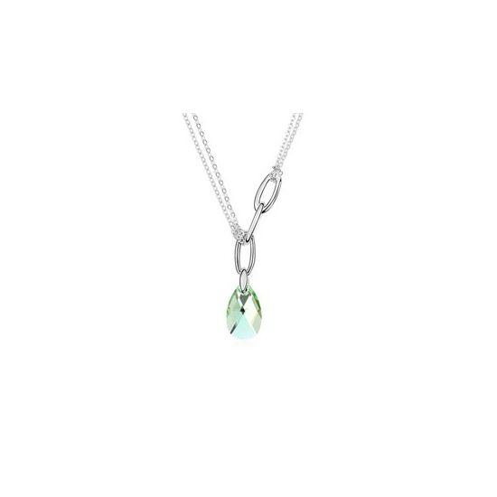 Minerva-halványzöld- Swarovski kristályos nyaklánc