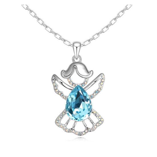 Angyal- kék- Swarovski kristályos nyaklánc