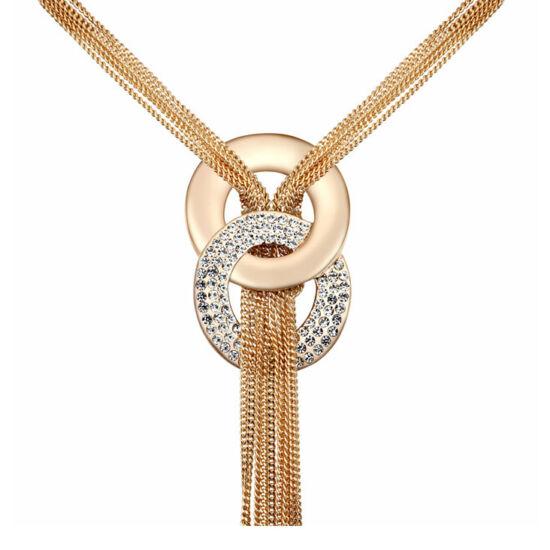 Arany csodafüggő- Swarovski kristályos - Nyakék