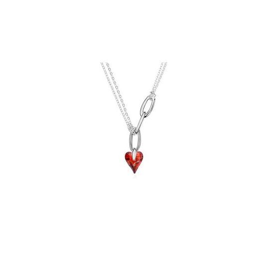 Mine- piros- Swarovski kristályos nyaklánc