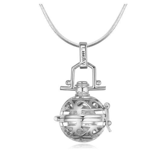 Angyal hívó  -Swarovski kristályos nyaklánc-ezüst