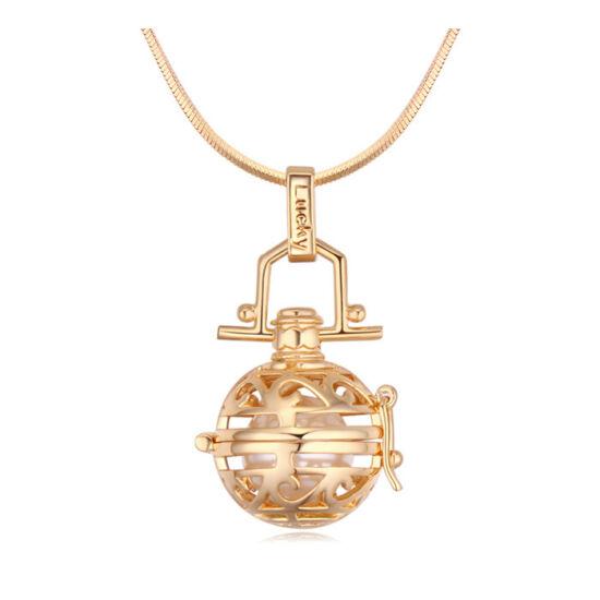 Angyal hívó  -Swarovski kristályos nyaklánc-arany