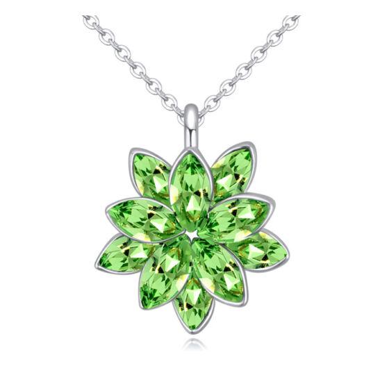 Esthajnalcsillag - nyaklánc - Swarovski kristályos-zöld