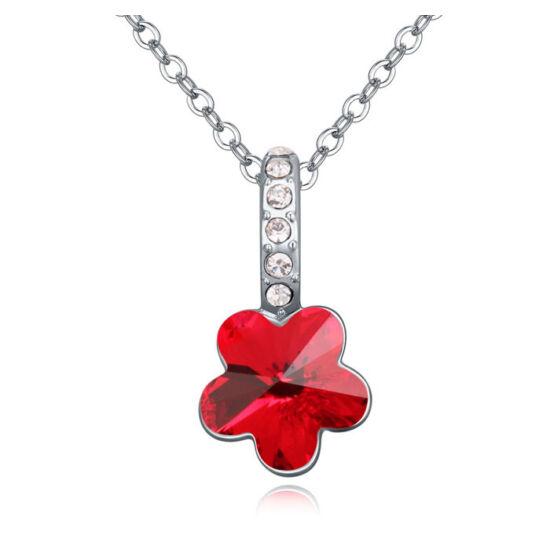 Flower- piros- Swarovski kristályos nyaklánc