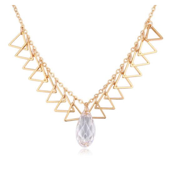 Kristályos triangolo- Swarovski kristályos nyaklánc