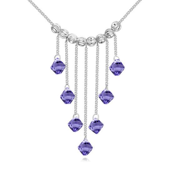 Falls-lila- Swarovski kristályos nyaklánc