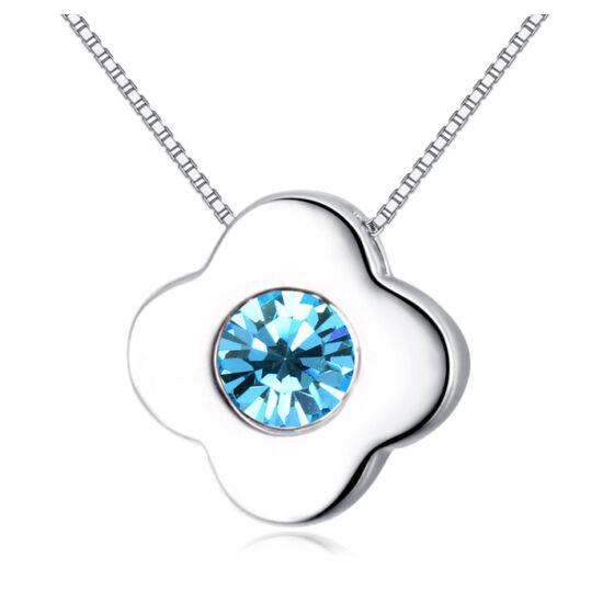 Little flower  - kék- Swarovski kristályos nyaklánc