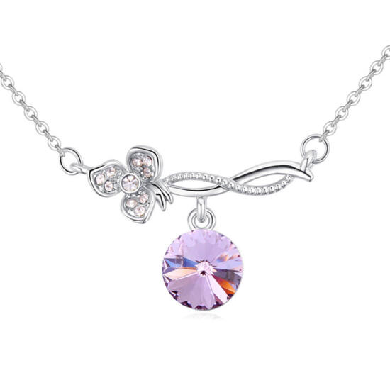 Csodák csodája-lila- Swarovski kristályos nyaklánc